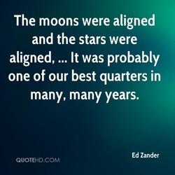 The moons were aligned 