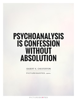 PSYCHOANALYSIS 