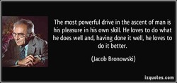 The most powerful drive in the ascent of man is 