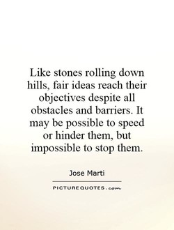 Like stones rolling down 