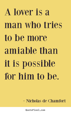 A lover is a 
