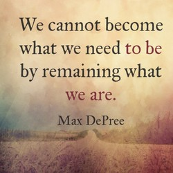We cannot become 