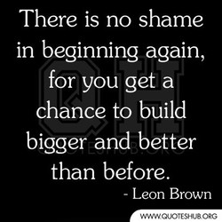 There is no shame 