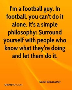 I'm a football guy. In 