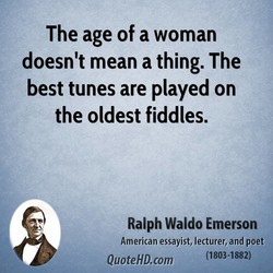 The age of a woman 