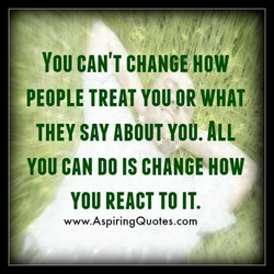 YOU CAN'T CHANGåOW 