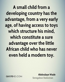 A small child from a 
