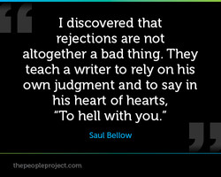 I discovered that