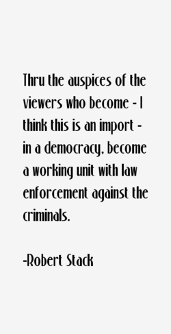 Thru the auspices of the 