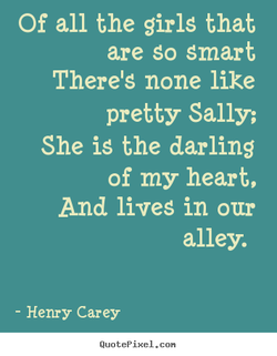 Of all the girls that 