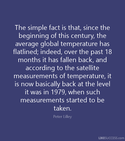 The simple fact is that, since the 