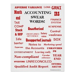 ADVERSE VARIANCE LOSS GRNI Month ACCOUNTING IRS end TAX COMP Stock & WIP Idle banter Expenses SWEAR FINANCE WORDS'. SYSTEM SUSPENSE Unau4horised Control UNEXPLAINED Salary weakness DIFFERENCE raise Unsuppor'ed journals sox Notes to Marketing spend the Accounts UNMATCHED ENTERTAINMENT Ixaving early Circular YEAR Non-compliant reference END OVERTIME UNRECONCILED INTERNAL Qualified Audit Report AUDITOR