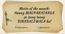motto of the month: 