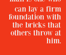 can lay a firm 
