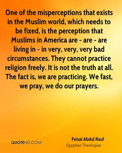 One of the misperceptions that exists 