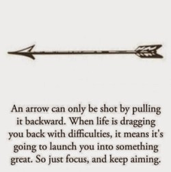 An arrow can only be shot by pulling 