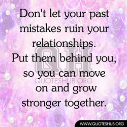 Don't let your past 