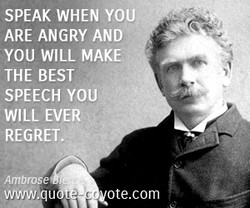 SPEAK WHEN YOU 