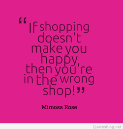 If shopping 