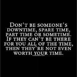 DON'T BE SOMEONE 'S 