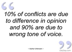 10% of conflicts are due 