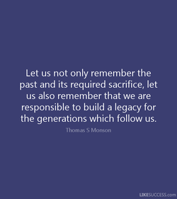 Let us not only remember the 