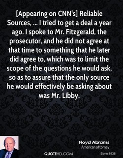 [Appearing on CNN's] Reliable 