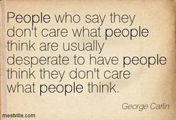 People who say they 