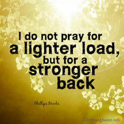 I do not pray for 