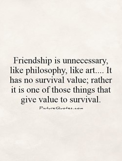 Friendship is unnecessary, 