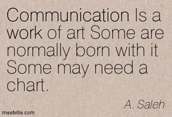 Communication Is a 