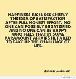 HAPPINESS INCLUDES CHIEFLY 