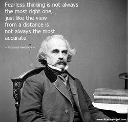 Fearless thinking is not always 