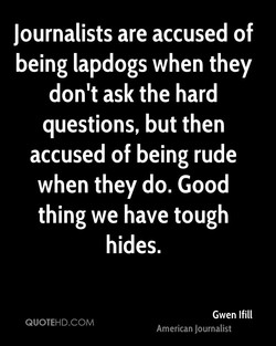 Journalists are accused of 