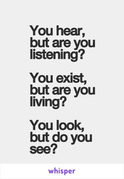 You hear, 
