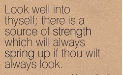 Look well into 