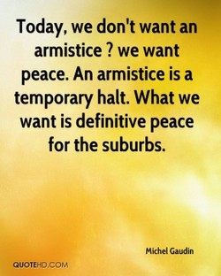 Today, we don't want an 