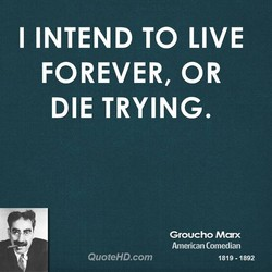 I INTEND TO LIVE 