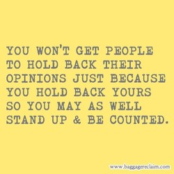 YOU WON'T GET PEOPLE 