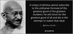 A votary of ahimsa cannot subscribe 
