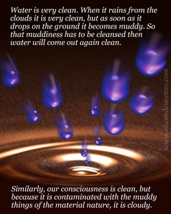 Water is very clean. When it rains from the 