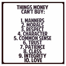 THINGS MONEY 