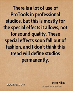 There is a lot of use of 