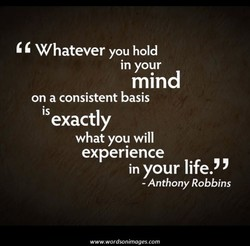 Whatever you hold 