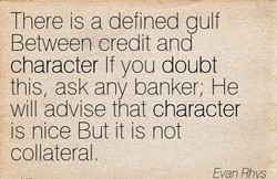 There is a defined gulf 