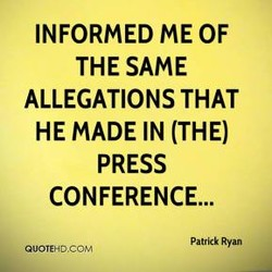 INFORMED ME OF 