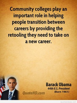 Community colleges play an 