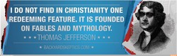 I DO NOT FIND IN CHRISTIANITY ONE 