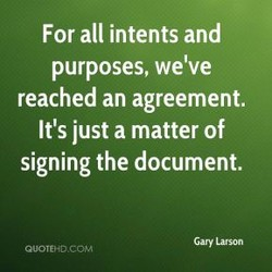 For all intents and 