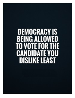 DEMOCRACY IS 